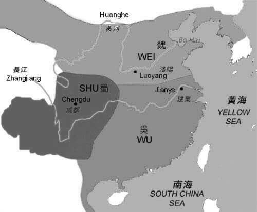Map of Three Kingdoms Period