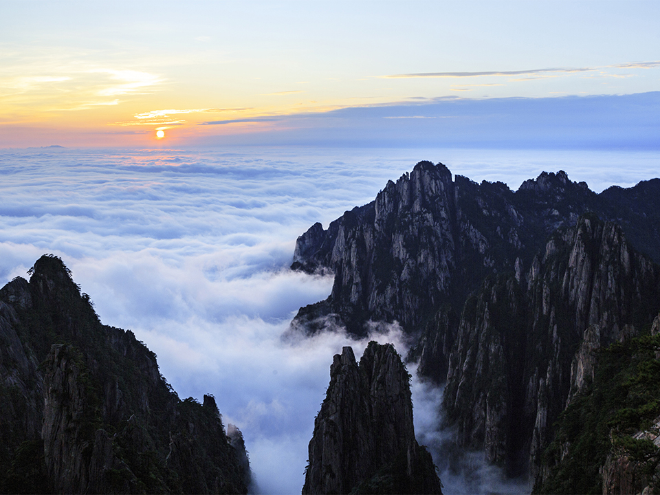 Sunrise of the Mount Huangshan